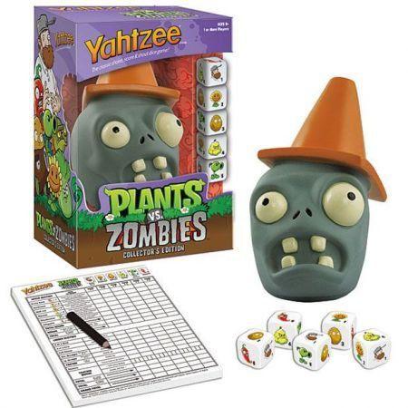 Boardgames Yahtzee Plants Vs Zombies Cone Zombie Version - USAopoly