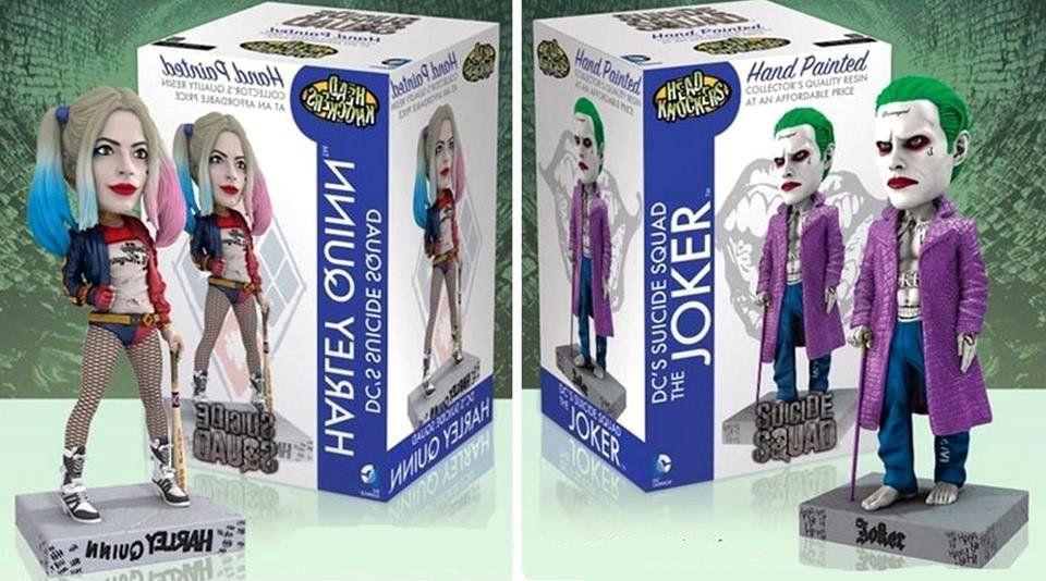 Bobble Head Esquadrão Suicida: Harley Quinn e Joker Set - Neca