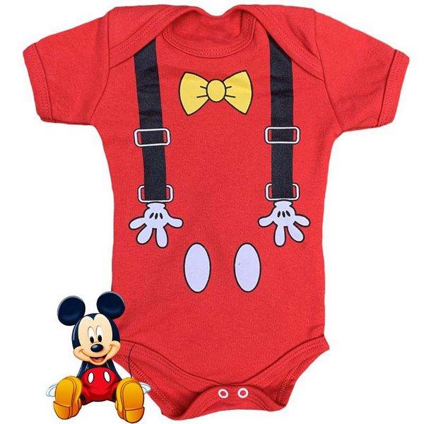 Body Bebê Geek Mickey Mouse: Mickey e Minnie Mouse - Disney