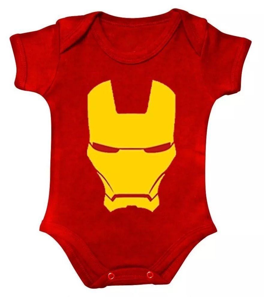 Body Bebe Homem de Ferro