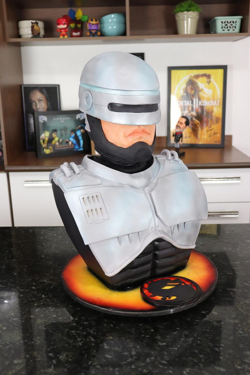 Bolo Alex Murphy RoboCop: RoboCop - Geek Cake - EV