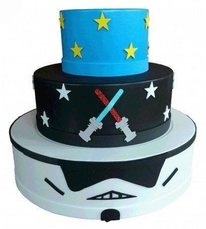 Bolo Festa Fake: Star Wars - Cia do E.v.a