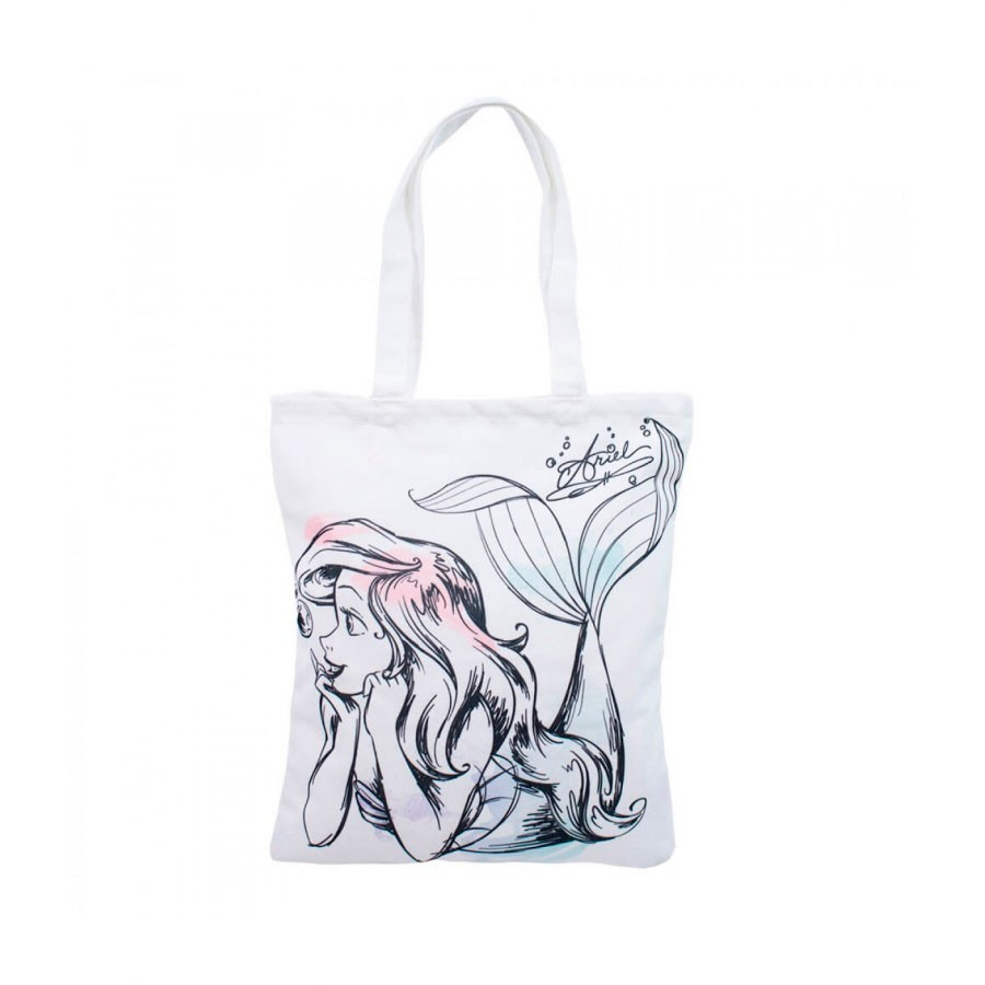 Bolsa Branca Estampa Princesa Ariel: Pequena Sereia  - Disney