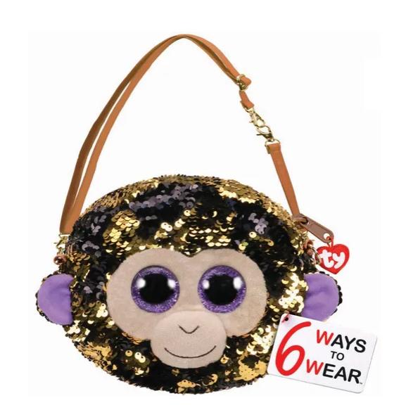 Bolsa Coconut (Macaco) Paetê: Beanie Boos - DTC
