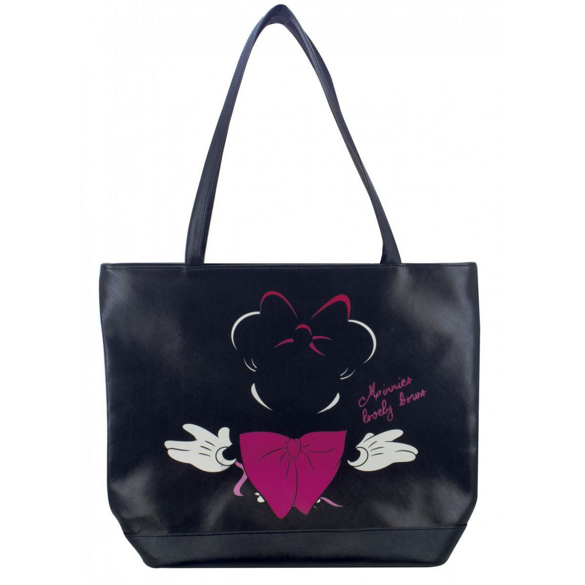 Bolsa de Couro Minnie Mouse Laço Preta - Disney