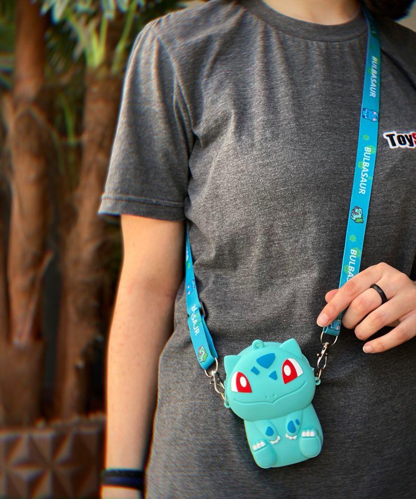 Bolsa de Ombro Shoulder Bag Unissex Bulbassauro: Pokémon Anime Mangá