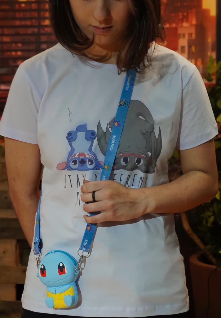 Bolsa de Ombro Shoulder Bag Unissex Squirtle: Pokémon Anime Mangá