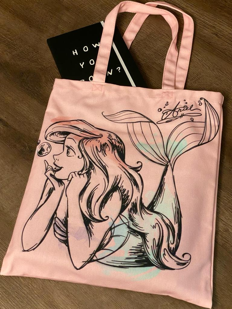 Bolsa Rosa Estampa Princesa Ariel: Pequena Sereia - Disney