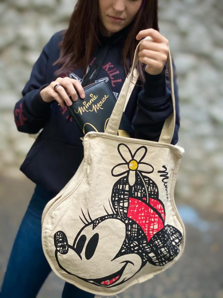 Bolsa Rosto Minnie: (Mickey e Minnie) - Disney