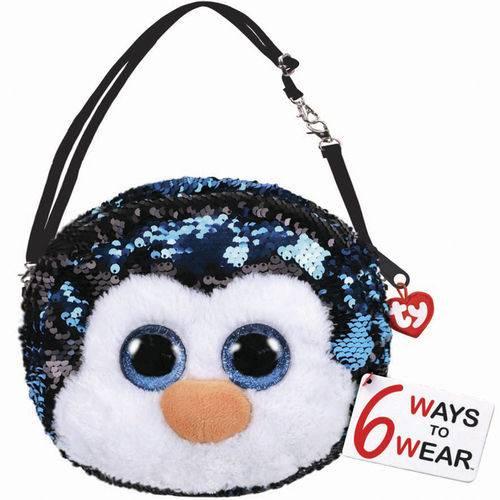 Bolsa Waddles (Pinguim) Paetê: Beanie Boos - DTC