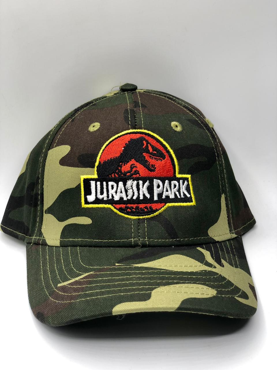 Boné Aba Cursa (Camuflado): Logo Jurassic Park