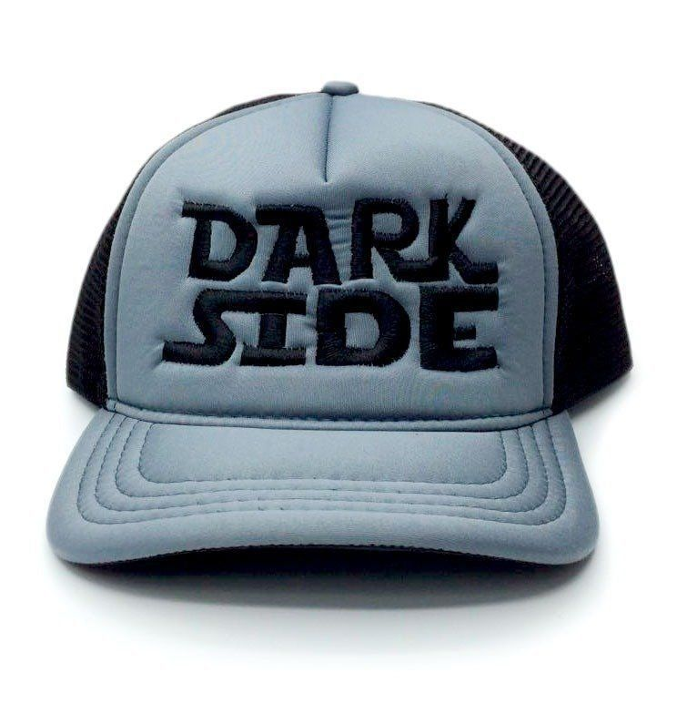 Boné Aba Curva: Dark Side (Preto e Cinza)