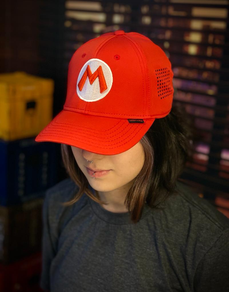 Boné Aba Curva L-Flex Logo Mario: Super Mario Bros. - EV