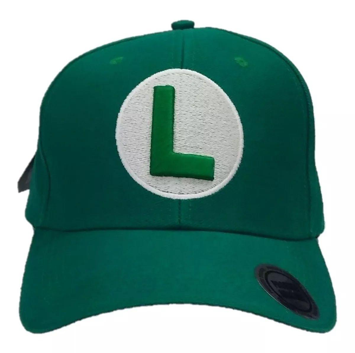 Boné Aba Curva Luigi: Super Mario Bros - EV