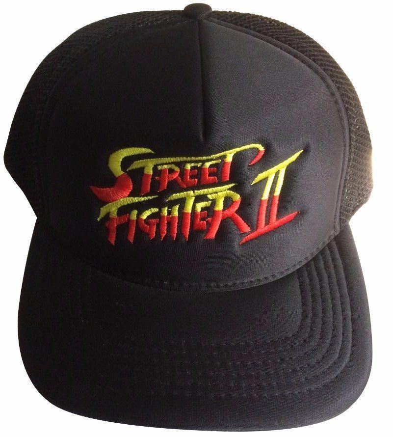 Boné Aba Curva: Street Fighter II - Preto