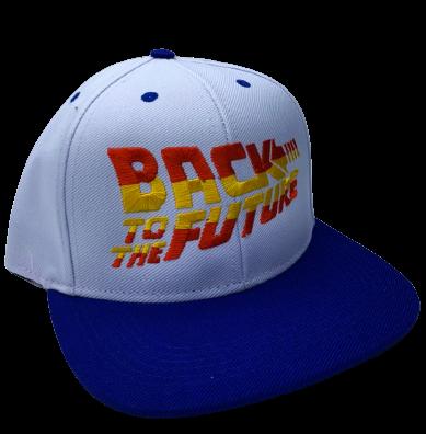 Boné Aba Reta Back To The Future (Branco e Azul): De Volta Para o Futuro (Back To The Future)