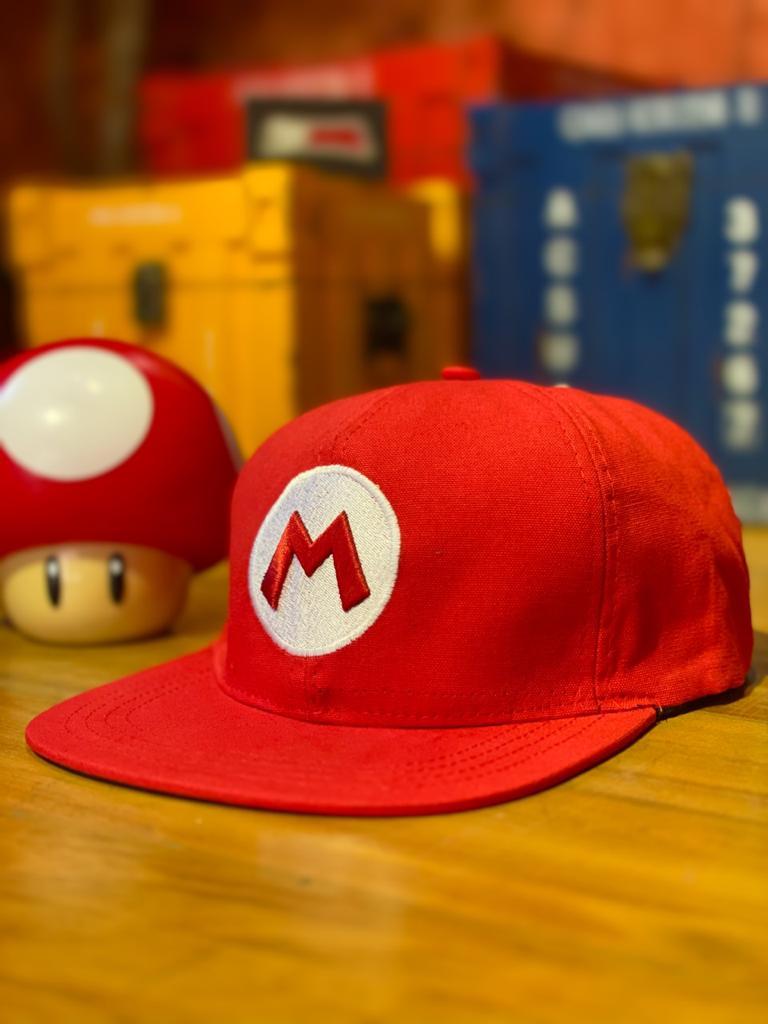 Boné Aba Reta Logo Mario: Super Mario Bros