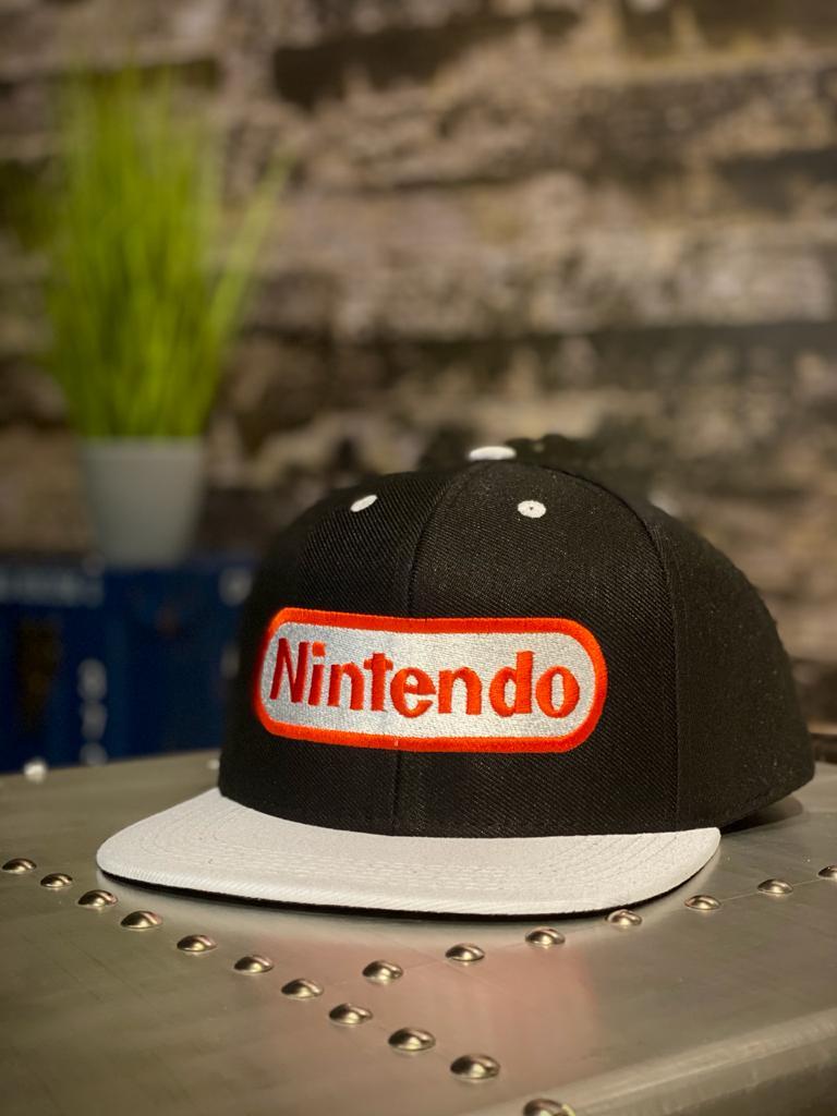 Boné Aba Reta: Logo Nintendo (Bordô)