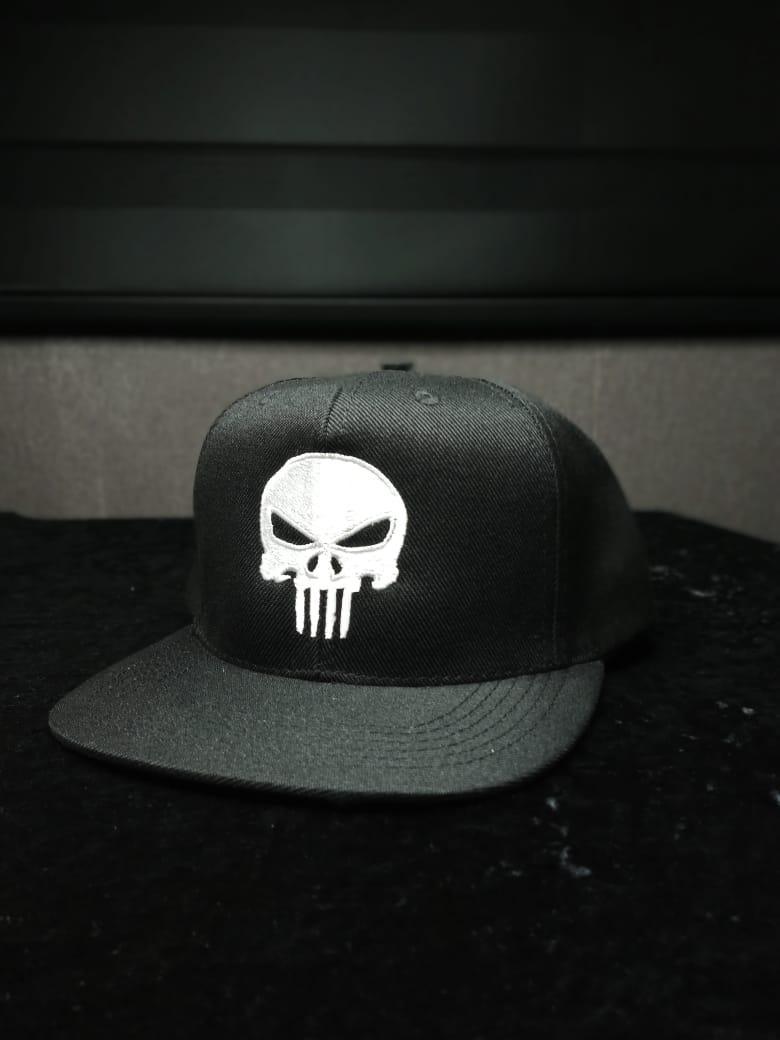 Boné Aba Reta Logo O Justiceiro (Punisher): Marvel Comics