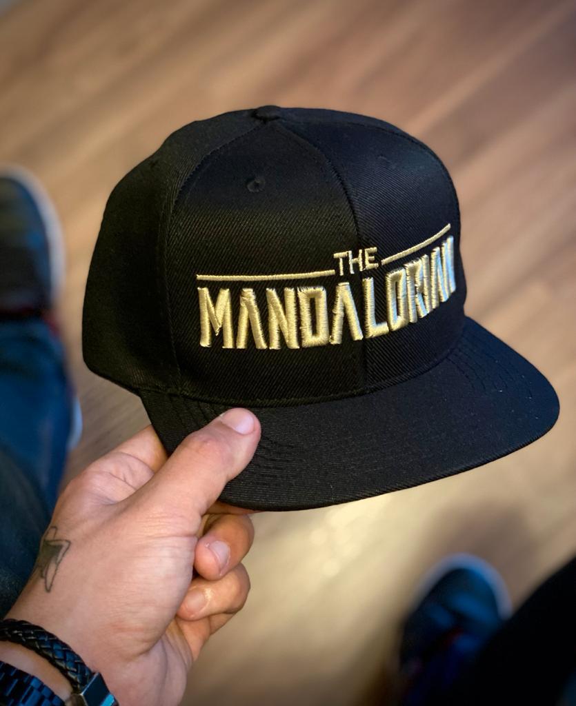 Boné Aba Reta Logo O Mandaloriano: The Mandalorian - Star Wars