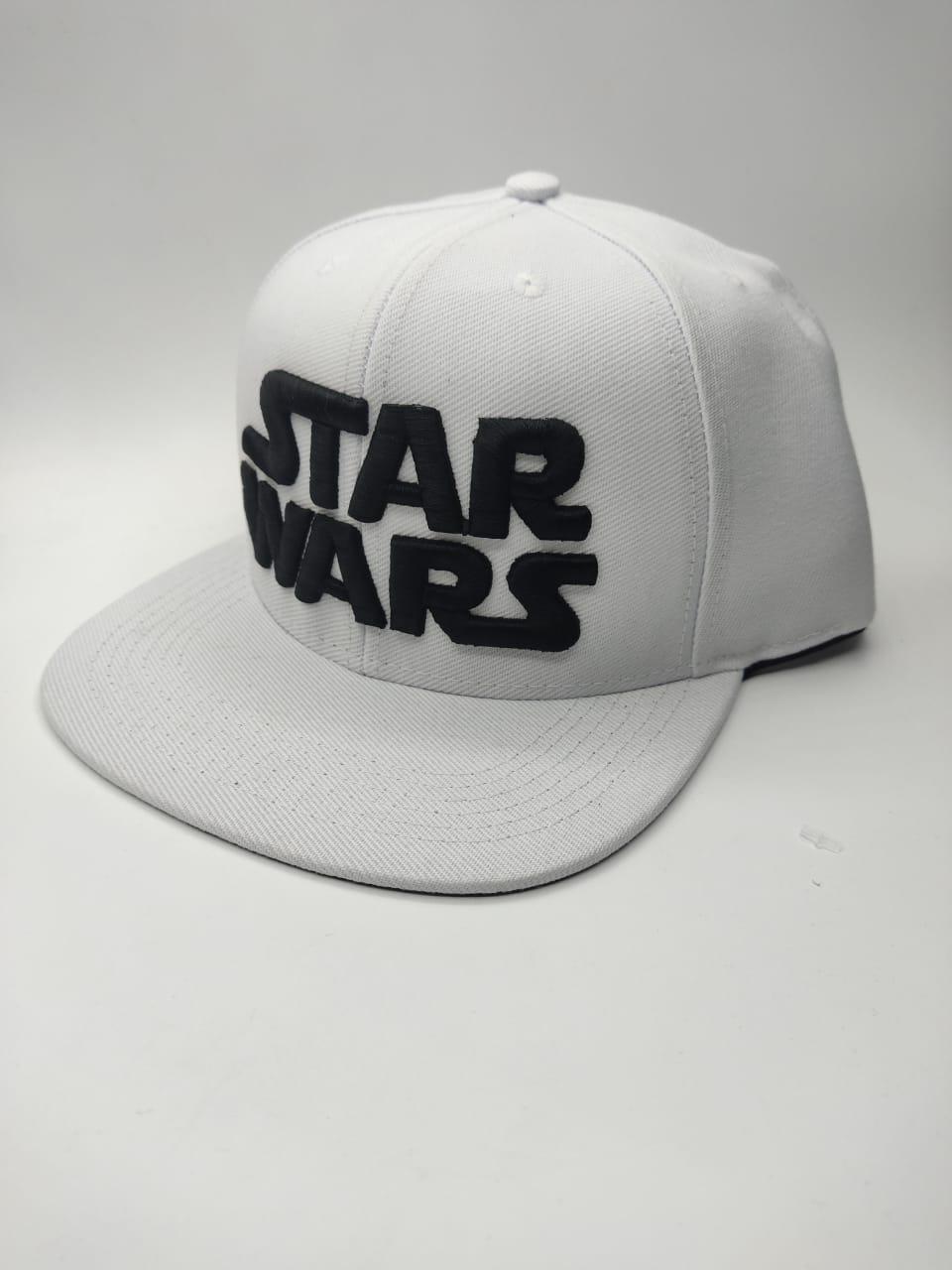 Boné Aba Reta: Logo Star Wars (Branco)