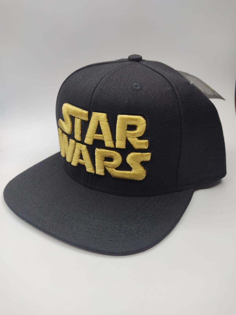 Boné Aba Reta: Logo Star Wars (Preto)
