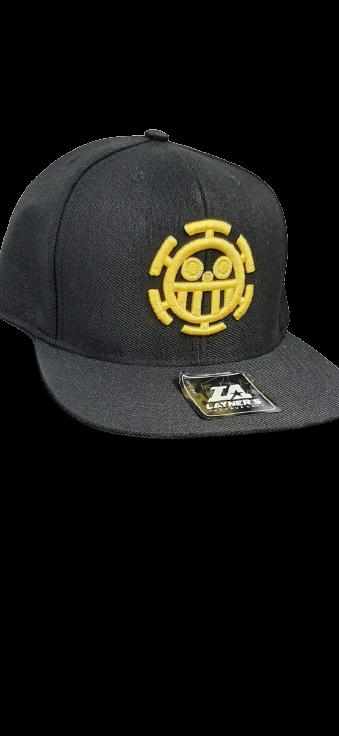 Boné Aba Reta Logo Trafalgar Law: One Piece Preto