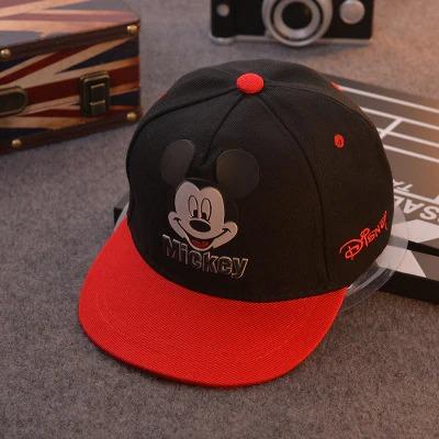 Boné Aba Reta Mickey Mouse: Disney Preto e Vermelho - EVALI