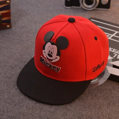 Boné Aba Reta Mickey Mouse: Disney Vermelho - EVALI