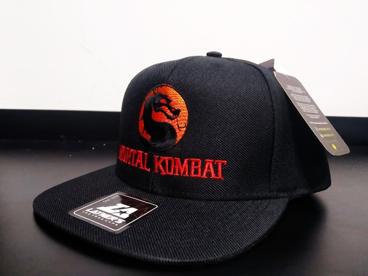 Boné Aba Reta Mortal Kombat (Bordô)