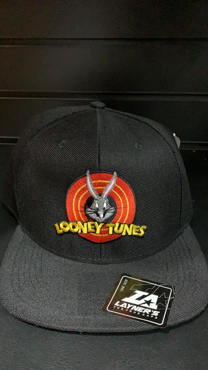 Boné Aba Reta Pernalonga: Looney Tunes (Preto)