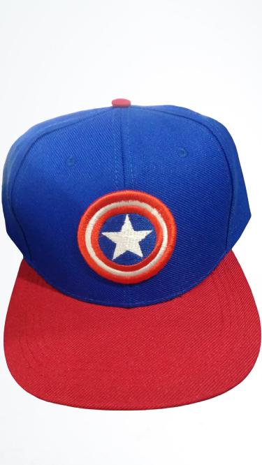 """Boné Aba Reta """"Símbolo Capitão América"""""""