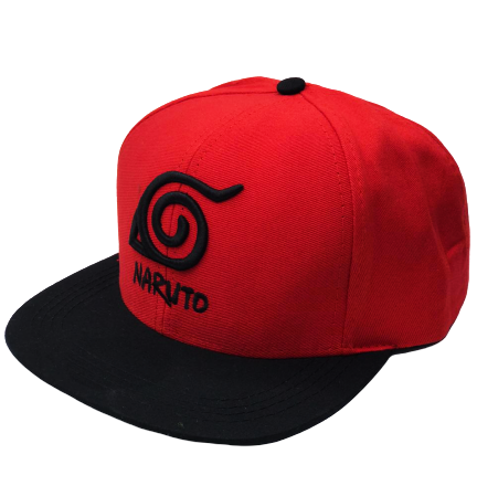Boné Aba Reta Símbolo da Aldeia da Folha: Naruto Shippuden