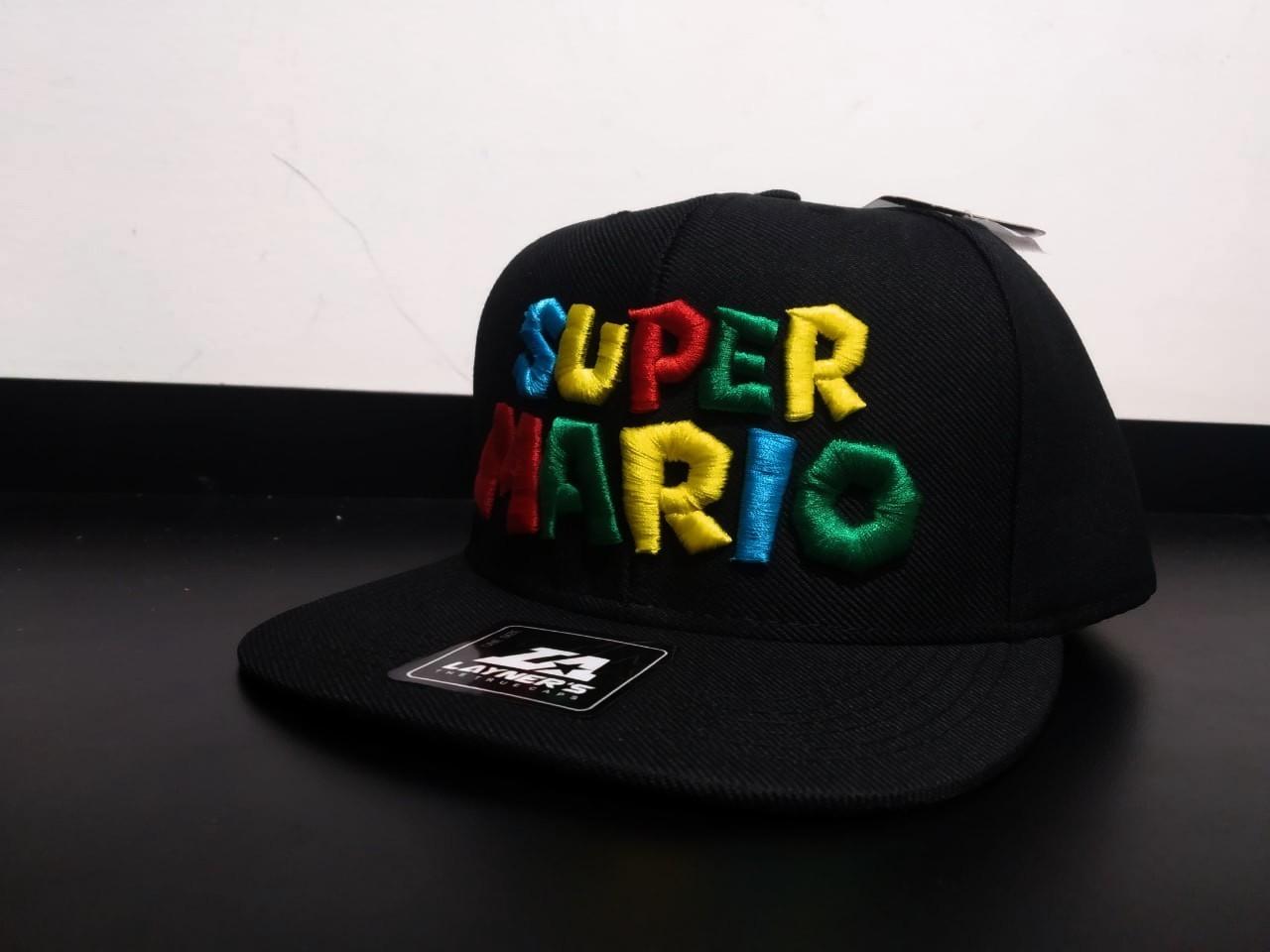 Boné Aba Reta: ''Super Mario'' (Bordô)