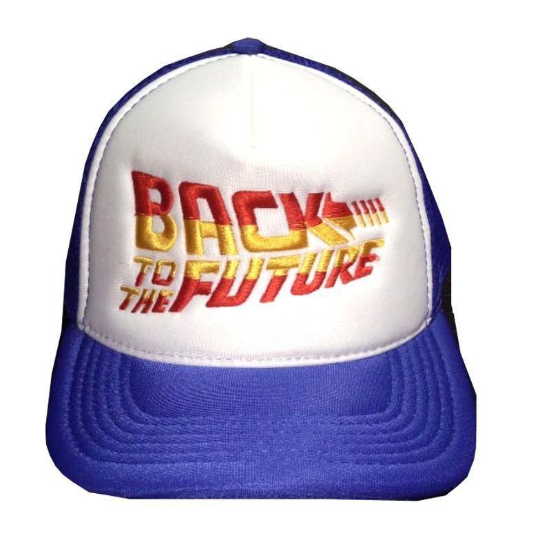 Boné Back To The Future (Azul, Vermelho e Amarelo)