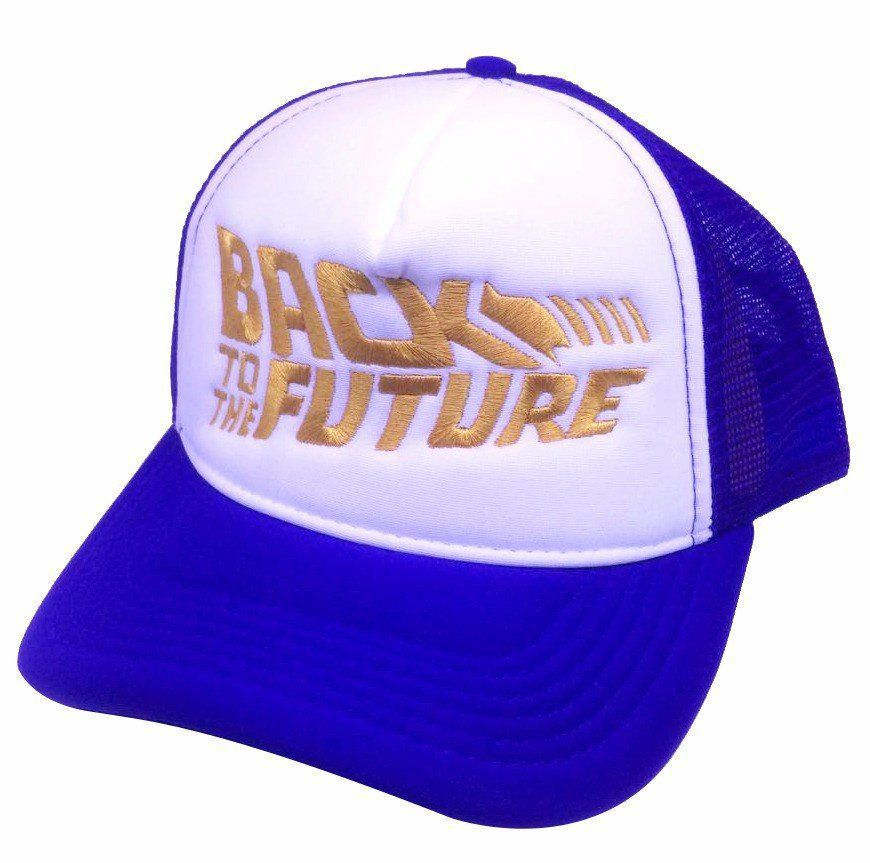 Boné Back To The Future ( De Volta Para o Futuro) - (Azul e Dourado)