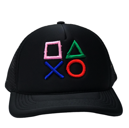Boné Botões: Playstation - EV