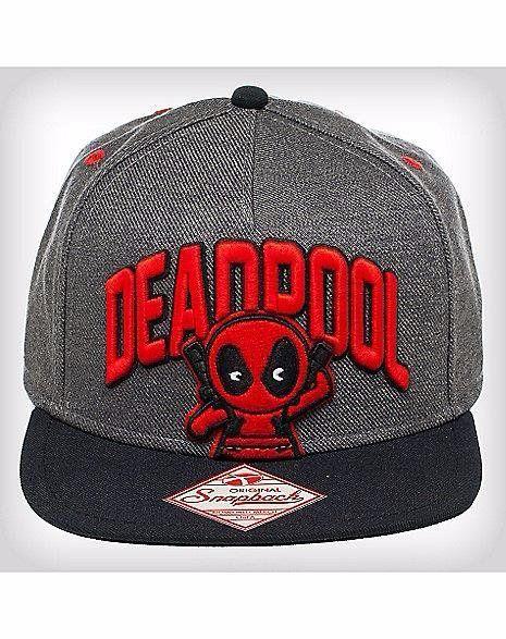 Boné Snapback: Deadpool Kid Cinza