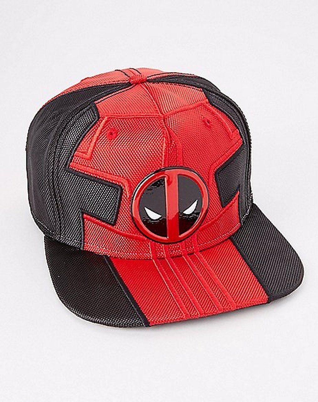 Boné Snapback: Deadpool (Vermelho e Preto)