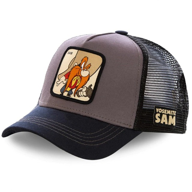 Boné Trucker Aba Curva Eufrazino Yosemite Sam Looney Tunes (Cinza) - EVALI