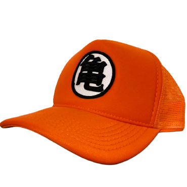 Boné Trucker Aba Curva Goku: Dragon Ball