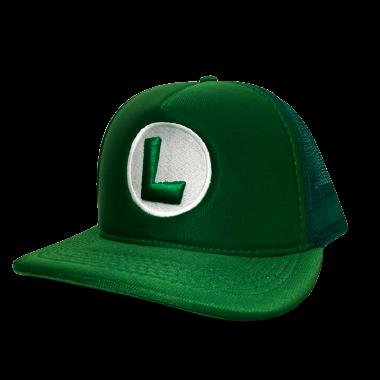 Boné Trucker Aba Curva Luigi: Super Mario Bros