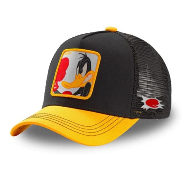 Boné Trucker Aba Curva Patolino Daffy Duck Boxeador Looney Tunes (Preto e Amarelo) - EVALI
