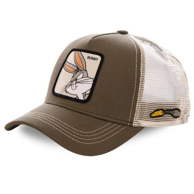 Boné Trucker Aba Curva Pernalonga Bugs Bunny Looney Tunes (Marrom) - EVALI