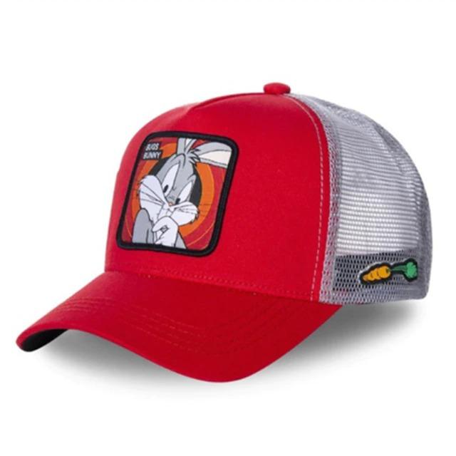 Boné Trucker Aba Curva Pernalonga Bugs Bunny Looney Tunes (Vermelho) - EVALI