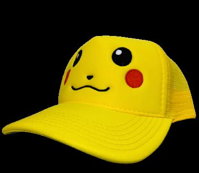 Boné Trucker Aba Curva Pikachu: Pokémon