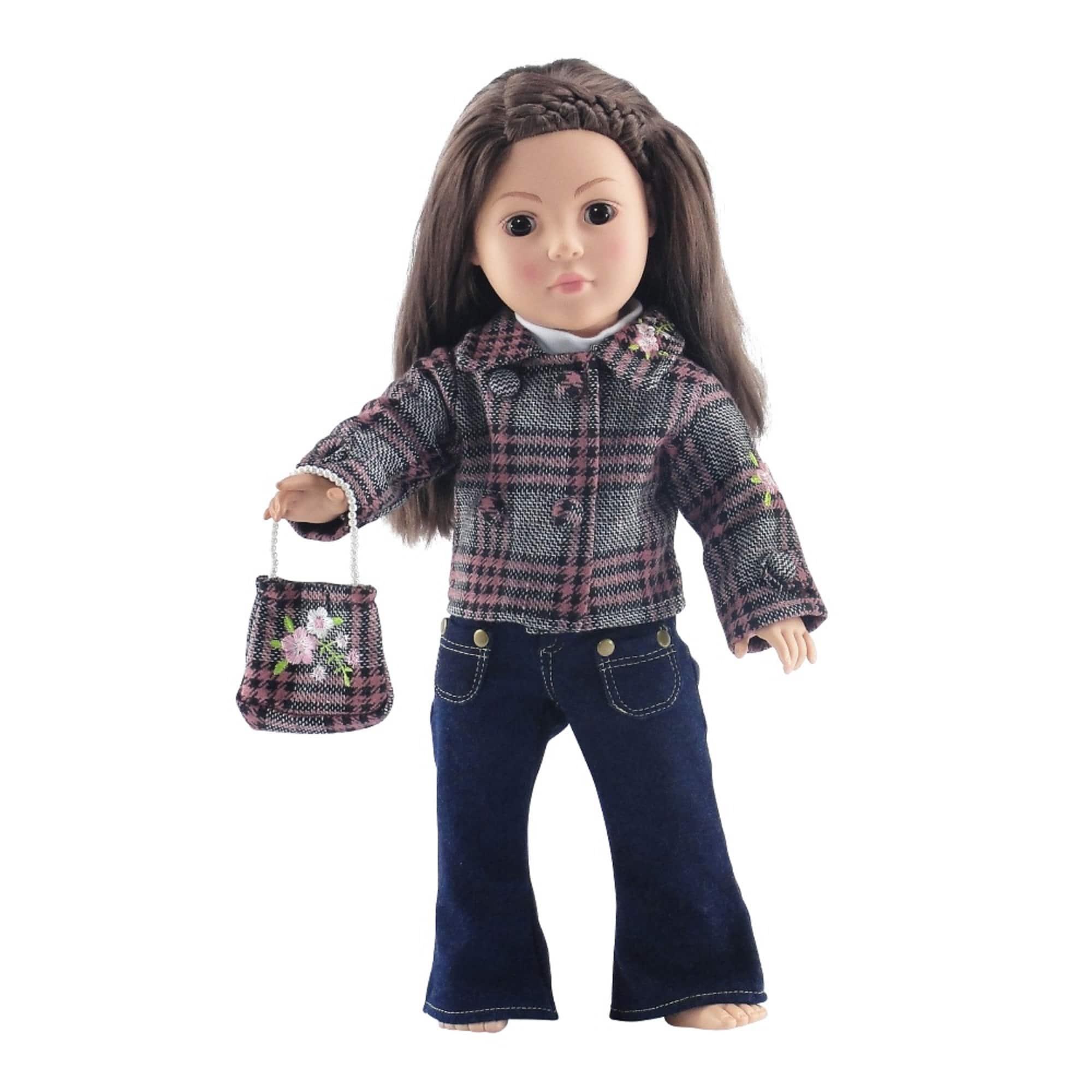Boneca American Girl: Jaqueta Xadrez e Calça Jeans (Apenas Venda Online)