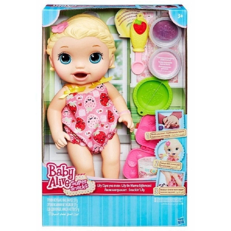 Boneca Baby Alive: Bebe Hora de Comer: Lanchinhos Divertidos (Loira) (Snackin Lily)