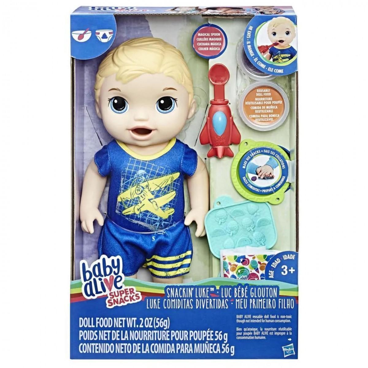 Boneca Baby Alive: Meu Primeiro Filho (Loiro) (Snackin Luke)