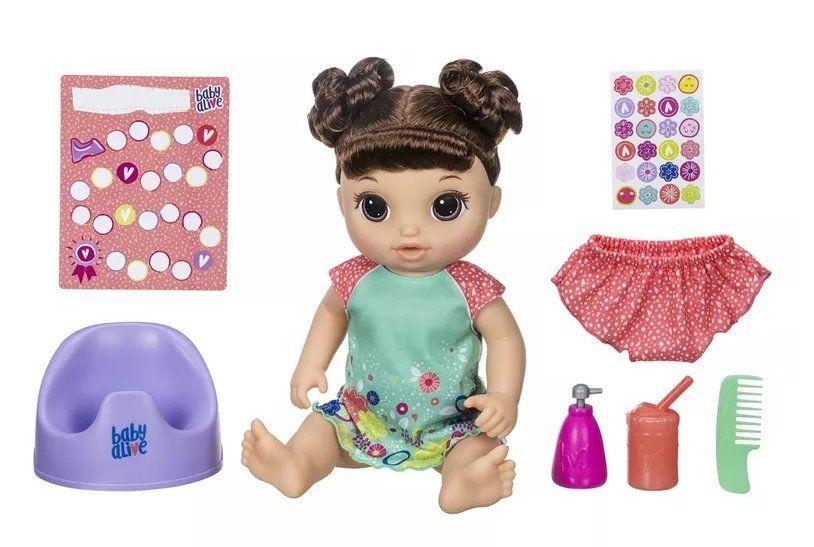 Boneca Baby Alive: Primeiro Peniquinho (Morena) - Hasbro